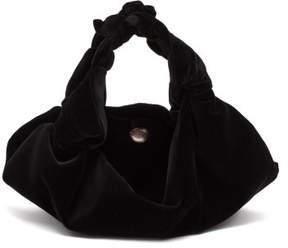 The Row Ascot Small Velvet Bag - Womens - Black