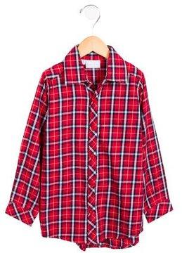 Rachel Riley Boys' Plaid Button-Up Shirt