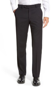 Ballin Men's Flat Front Solid Wool Trousers