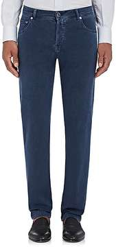 Kiton Men's Cotton-Blend Flat-Front Trousers