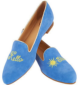 C. Wonder As Is Suede Hello Sunshine Loafers-Chloe