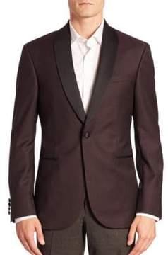 Saks Fifth Avenue Modern Diamond-Print Shawl-Collar Tuxedo Jacket