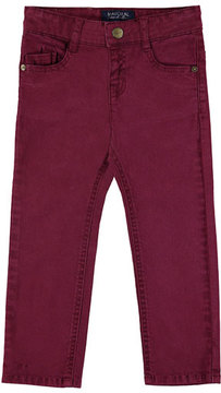 Mayoral 5-Pocket Twill Trousers, Wine, Size 3-7