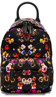 Givenchy Nano Night Pansies Nylon Backpack in Black,Floral.