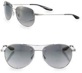 Barton Perreira Lovitt Round Metal Polarized Aviator Sunglasses