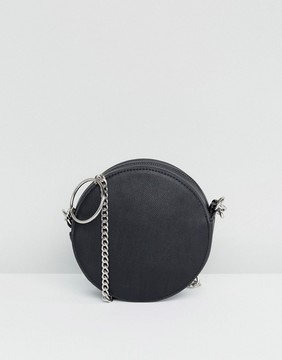 ASOS Round Cross Body Bag With Ring Detail Chain
