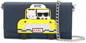 Karl Lagerfeld NYC taxi chain wallet