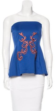 Clover Canyon Embroidered Strapless Top