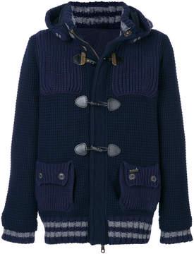 Bark knitted duffle jacket