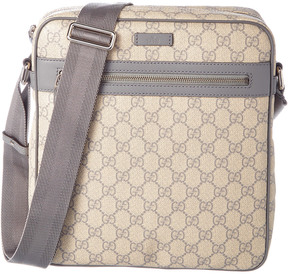 Gucci Gg Supreme Canvas & Leather Shoulder Bag - GREY - STYLE