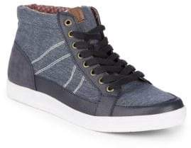 Ben Sherman Printed Mid-Top Sneakers