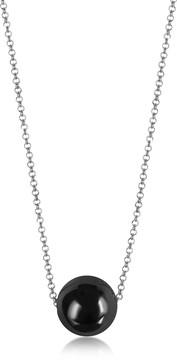 Antica Murrina Veneziana Perleadi Black Murano Glass Bead Chain Necklace