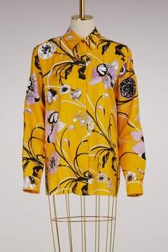 Emilio Pucci Embroidered Silk Pajama Shirt
