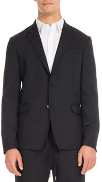 Givenchy Wool Suit Jacket with Star Taping, Black