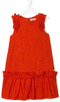 MSGM TEEN embroidered ruffled dress