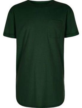 River Island Boys green curved hem T-shirt