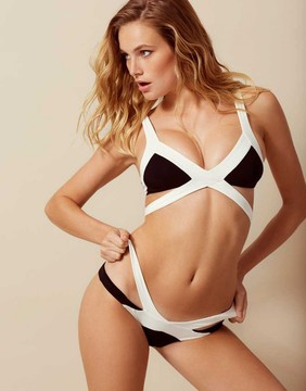 Agent Provocateur Mazzy Bikini Bottom White And Black
