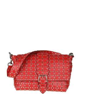 RED Valentino Shoulder Bag Flower Puzzle In Red Leather