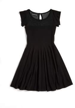 Un Deux Trois Girl's Mesh Skater Dress