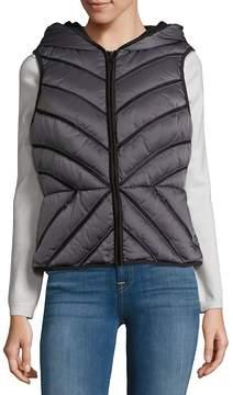 Blanc Noir Women's Mesh Inset Puffer Vest