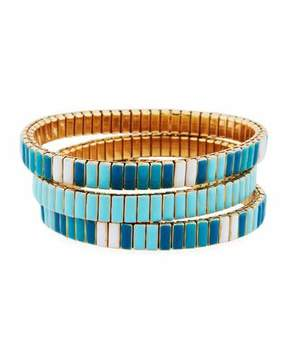 Neiman Marcus Watch Out Stretch Bracelet, Turquoise Color
