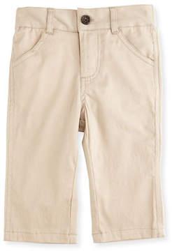 Andy & Evan Twill Straight-Leg Pants, Khaki, Size 2T-7Y