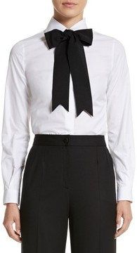 Dolce & Gabbana Women's Cotton Poplin Blouse With Bow