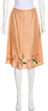 Matthew Williamson Embellished Silk Skirt