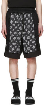 Kokon To Zai Black Inside Out Monogram Shorts