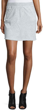 ATM Anthony Thomas Melillo Cotton Terry Pencil Skirt, Gray Melange