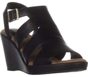 Giani Bernini Gb35 Wirla Wedge Gladiator Sandals, Black.