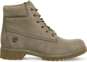 Timberland Ladies Grey Unique Slim 6-Inch Leather Boots