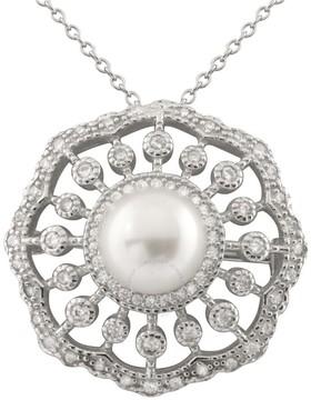 Bella Pearl Sterling Silver Filigree Pearl Pendant