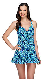 Fit 4 U Hips Starburst Flip Swim Dress