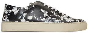 Givenchy Black and Grey Urban Street Floral Sneakers