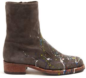 Maison Margiela Replica print-effect suede boots