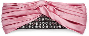 Silk headband with crystals