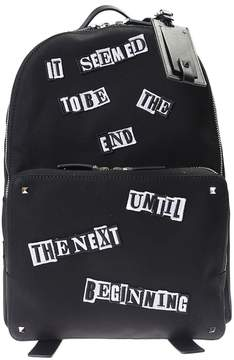Valentino Punk Poem Nylon Canvas Backpack