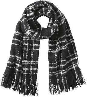 Joe Fresh Women's Essential Check Pattern Scarf, Black (Size O/S)