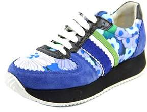 Carven Running Sneaker Round Toe Suede Sneakers.
