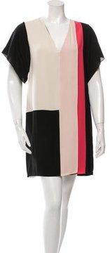 Bouchra Jarrar Tricolor Silk Dress w/ Tags