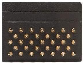 Christian Louboutin Kios Spike Embellished Leather Cardholder - Womens - Black