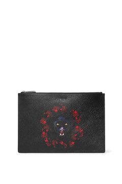Givenchy - Printed Textured-leather Pouch - Black