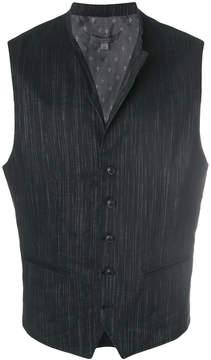 John Varvatos adjustable button waistcoat
