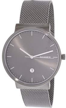 Skagen Men's Ancher SKW6432 Black Stainless-Steel Japanese Quartz Fashion Watch