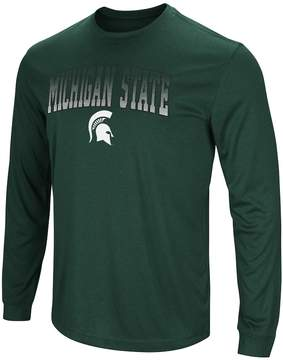 Colosseum Men's Campus Heritage Michigan State Spartans Gradient Long-Sleeve Tee