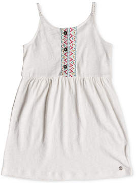 Roxy Embroidered Cotton Sun Dress, Little & Big Girls