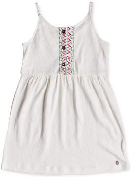 Roxy Embroidered Cotton Sun Dress, Toddler Girls