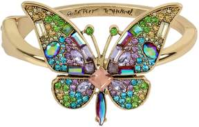 Betsey Johnson BLOOMING BETSEY BUTTERFLY HINGE BANGLE