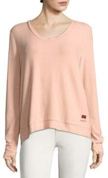 Peace Love World Kristy Comfy Lace-Up Sweater